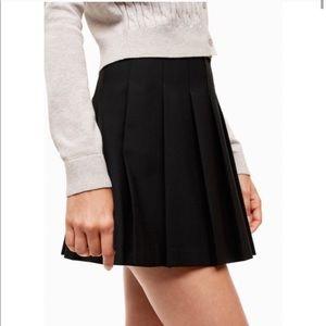 ARITIZIA Sunday Best Black Mini Skater Skirt